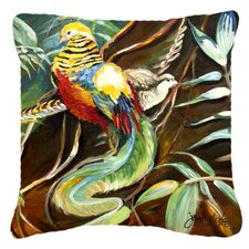 Mandarin Pheasant Indoor/Outdoor Throw Pillow