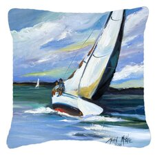 Two and A Sailboat Indoor/Outdoor Throw Pillow
