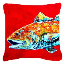 Red Fish Alphonzo Head Indoor/Outdoor Throw Pillow