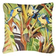 Parrots Indoor/Outdoor Throw Pillow