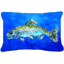 Fish Headed Downstream Indoor/Outdoor Throw Pillow