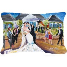 Our Wedding Day Indoor/Outdoor Throw Pillow