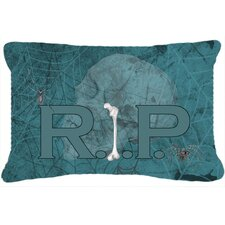 RIP with Spider Web Halloween Indoor/Outdoor Throw Pillow