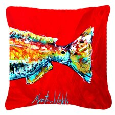 Red Fish Alphonzo Tail Indoor/Outdoor Throw Pillow