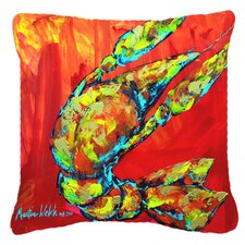 Crawfish Hot Craw Indoor/Outdoor Throw Pillow