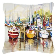 Paradise Sailboats Indoor/Outdoor Throw Pillow