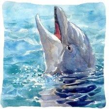 Dolphin Indoor/Outdoor Throw Pillow