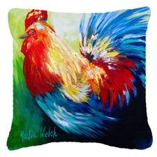 Rooster Chief Big Feathers Indoor/Outdoor Throw Pillow
