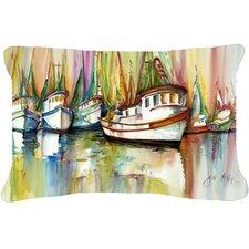 Shrimp Fleet Indoor/Outdoor Throw Pillow