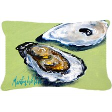 Oysters Two Shells Indoor/Outdoor Throw Pillow