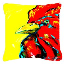 Rooster Big Head Indoor/Outdoor Throw Pillow