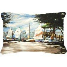 Sailing Lessons Sailboats Indoor/Outdoor Throw Pillow