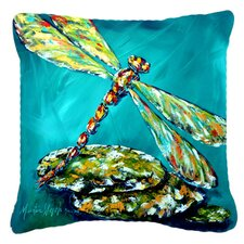 Dragonfly Matin Indoor/Outdoor Throw Pillow