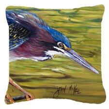 Green Heron Indoor/Outdoor Throw Pillow