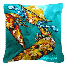Crab Beam of Light Indoor/Outdoor Throw Pillow