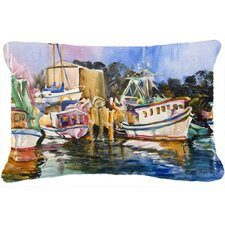 Shrimp Boat Warehouse Indoor/Outdoor Throw Pillow