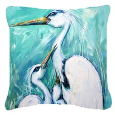 Mother's Love Egret Indoor/Outdoor Throw Pillow