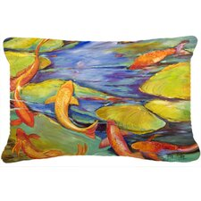 Koi Indoor/Outdoor Throw Pillow