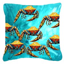 Crab Lotta Crabs Indoor/Outdoor Throw Pillow
