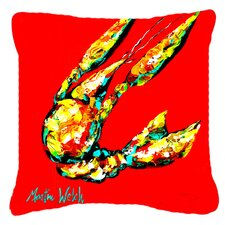 Great Reviews Crawfish Move Over Indoor/Outdoor Throw Pillow
