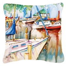 Gazebo and Sailboats Indoor/Outdoor Throw Pillow