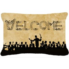 Welcome Symphony Indoor/Outdoor Throw Pillow