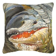 Alligator Indoor/Outdoor Throw Pillow