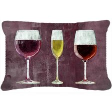Three Glasses of Wine Indoor/Outdoor Throw Pillow