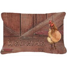 Welcome Chicken Indoor/Outdoor Throw Pillow