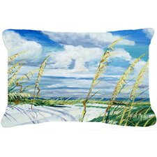 Sea Oats Indoor/Outdoor Throw Pillow