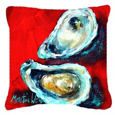 Open Up Oyster Indoor/Outdoor Throw Pillow