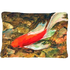 Herry Up Koi Indoor/Outdoor Throw Pillow