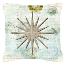 Shells Navigation Star Indoor/Outdoor Throw Pillow