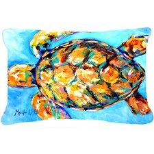 Sand Dance Turtle Indoor/Outdoor Throw Pillow