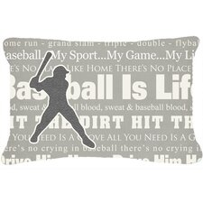 Baseball Is Life Indoor/Outdoor Throw Pillow