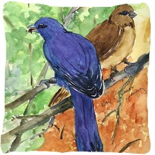 Indigo Bunting Indoor/Outdoor Throw Pillow