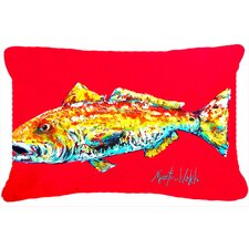 Red Fish Alphonzo Indoor/Outdoor Throw Pillow