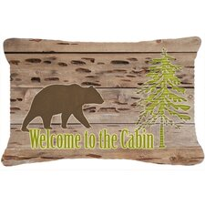Welcome To The Cabin Indoor/Outdoor Throw Pillow