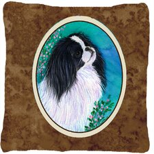 Japanese Chin Indoor/Outdoor Throw Pillow
