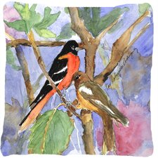 Baltimore Oriole Indoor/Outdoor Throw Pillow
