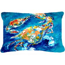 By Chance Crab Indoor/Outdoor Throw Pillow