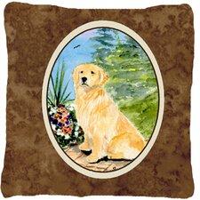 #1 Golden Retriever Indoor/Outdoor Throw Pillow