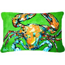 Wide Load Crab Indoor/Outdoor Throw Pillow