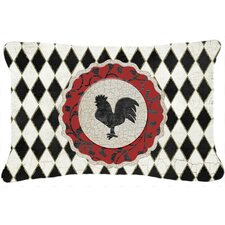 Rooster Harlequin Indoor/Outdoor Throw Pillow