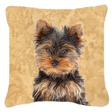 Yorkie Puppy/ Yorkshire Terrier Indoor/Outdoor Throw Pillow
