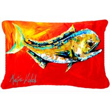 Danny Dolphin Fish Indoor/Outdoor Throw Pillow
