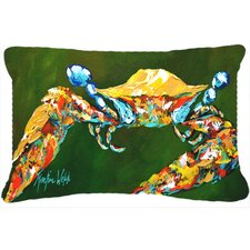 Go Green Crab Indoor/Outdoor Throw Pillow