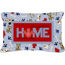 A House Is Not A Home Without A Dog Indoor/Outdoor Throw Pillow
