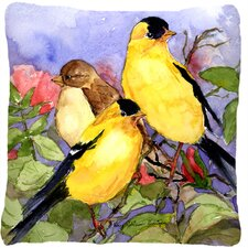 American Goldfinch Indoor/Outdoor Throw Pillow
