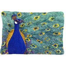 Peacock Indoor/Outdoor Throw Pillow